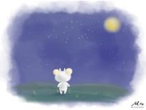 你好羊-夜色(繪本風)-塵埃工作室